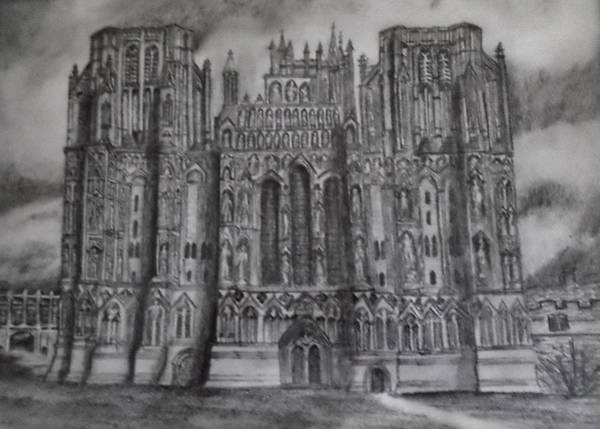 Wall Art - Drawing - English Cathedral by Christy Saunders Church