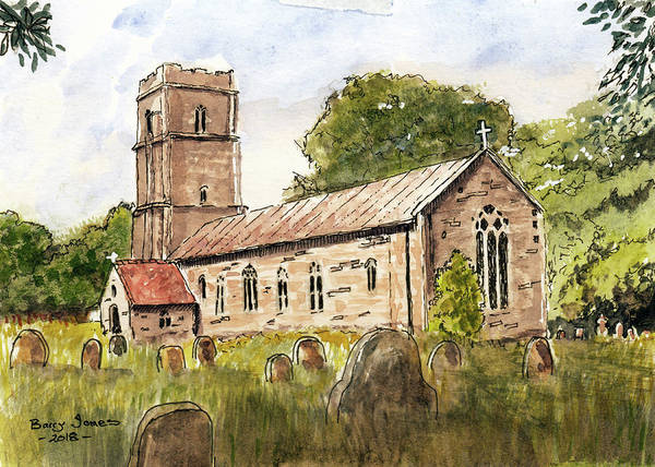 Wall Art - Painting - English Chapel by Barry Jones