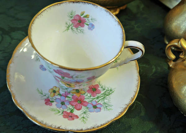 Photograph - English China Teacup by Connie Fox