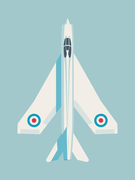 Electric Wall Art - Digital Art - English Electric Lightning Fighter Jet Aircraft - Sky by Ivan Krpan