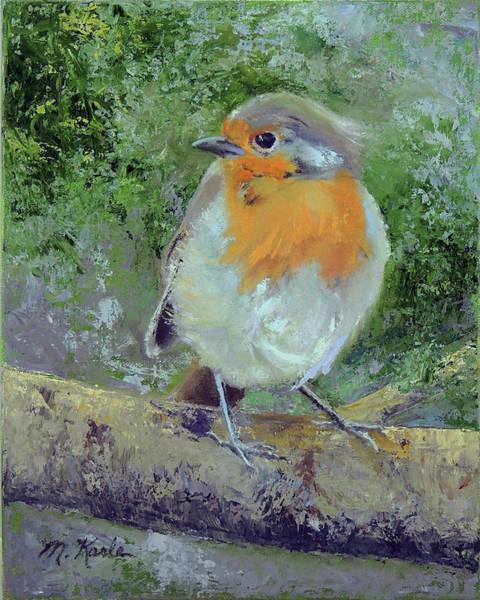 Painting - English Robin by Marsha Karle