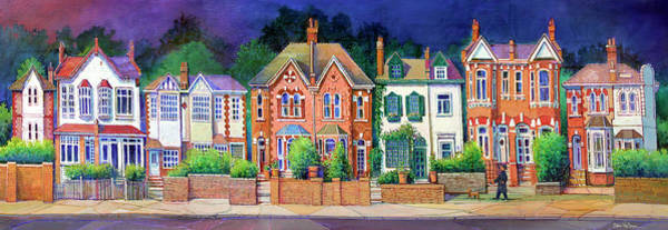 Wall Art - Painting - English Rowhouses by Dan Nelson