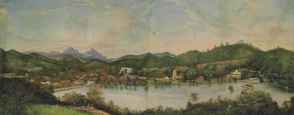 Wall Art - Painting - English School, Circa 1850 A Panoramic View Of Kandy, Ceylon by Celestial Images