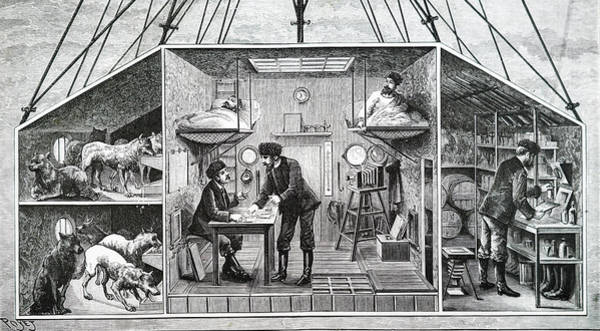 Wall Art - Photograph - Engraving Depicting A Balloon House by Uig