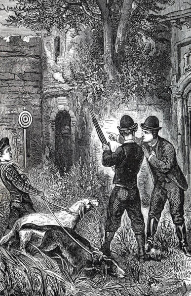 Wall Art - Photograph - Engraving Depicting A Shooting Lesson by Uig