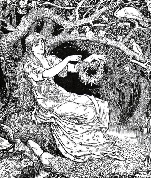 Wall Art - Photograph - Engraving Titled  Princess Narcissus by Uig