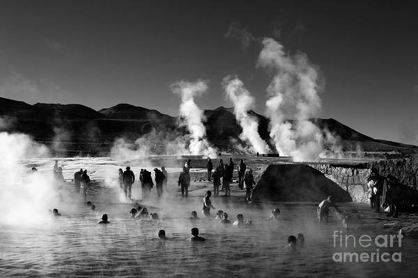 Wall Art - Photograph - Enjoying The Hot Springs At El Tatio Geysers Chile by James Brunker