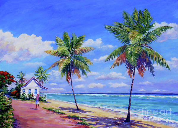 Cayman Painting - Enjoying The Moment by John Clark