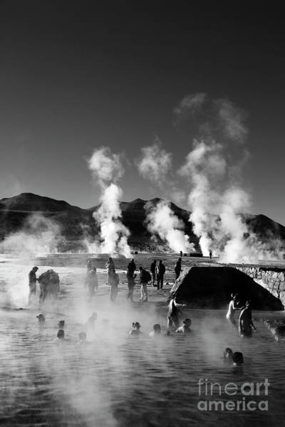 Photograph - Enjoying The Thermal Baths At El Tatio Geysers Chile by James Brunker