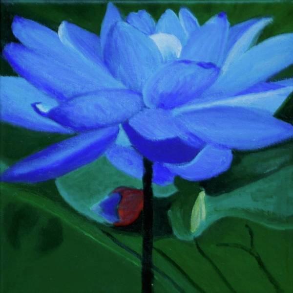 Blue Lotus Flower Paintings Page 13 Of 13 Fine Art America