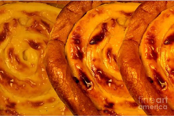 Cinnamon Buns Photograph - Ensaimadas With Cream by Jon Fennel