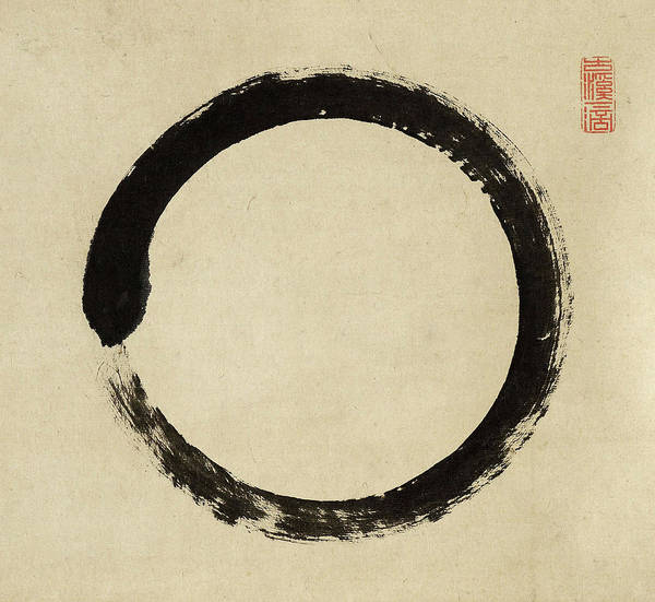 Enlightenment Painting - Enso-2 by Taido Shufu