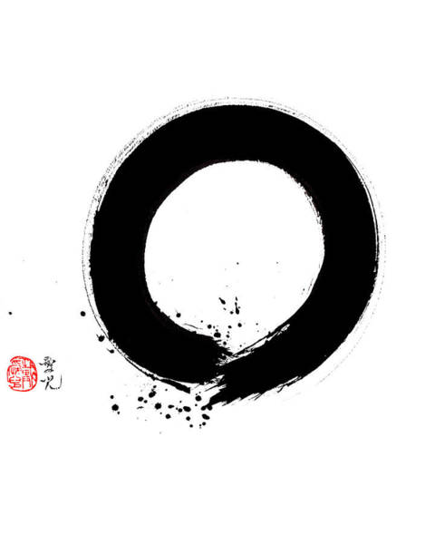 Painting - Enso - Appreciating Impermanence by Oiyee At Oystudio