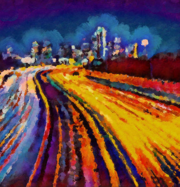 Wall Art - Painting - Enter Dallas by Dan Sproul