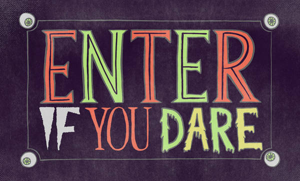 Painting - Enter If You Dare Halloween Art by Jen Montgomery