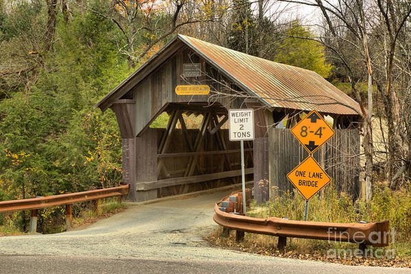 Photograph - Entering Emily's Covered Bridge by Adam Jewell