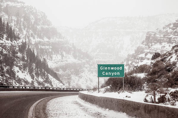 Photograph - Entering Glenwood Canyon by Jeanette Fellows
