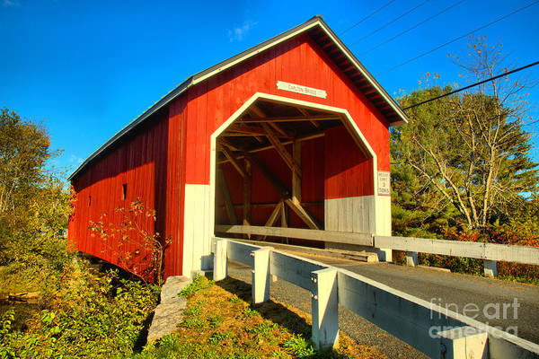 Photograph - Entering The Carleton Covered Bridge by Adam Jewell