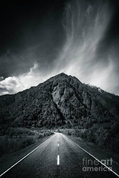 Mono Photograph - Entering The Dark Depth by Evelina Kremsdorf