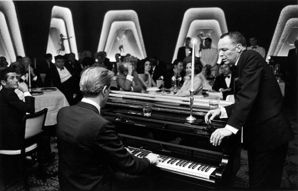 Photograph - Entertainer Frank Sinatra Accompanied by John Dominis
