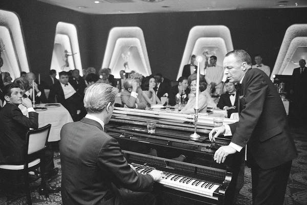 Photograph - Entertainer Frank Sinatra And A Pianist by John Dominis