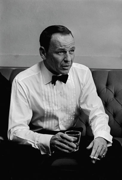 Photograph - Entertainer Frank Sinatra Backstage by John Dominis