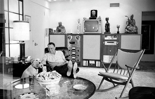 Photograph - Entertainer Frank Sinatra Playing W by John Dominis