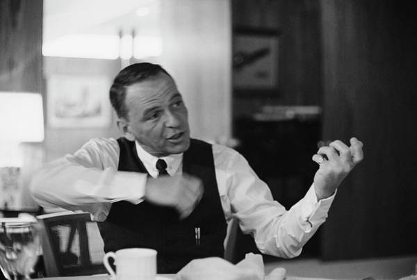 Photograph - Entertainer Frank Sinatra Relaxing by John Dominis