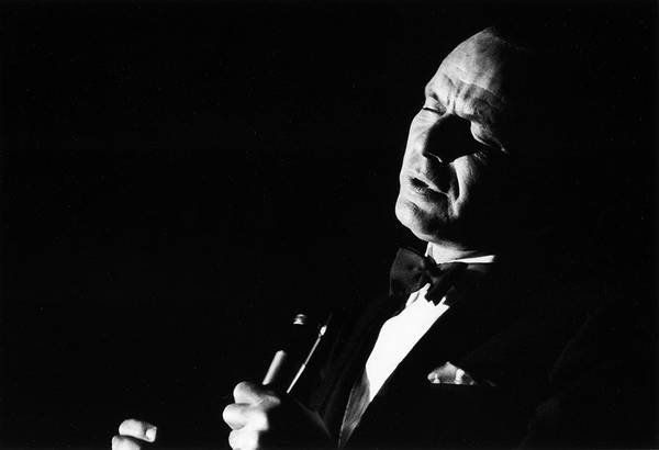 Photograph - Entertainer Frank Sinatra Singing by John Dominis