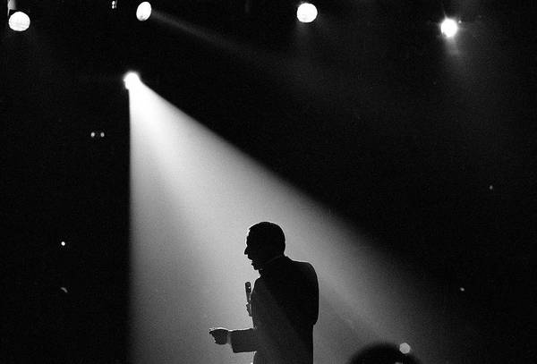 Wall Art - Photograph - Entertainer Frank Sinatra Singing Under by John Dominis