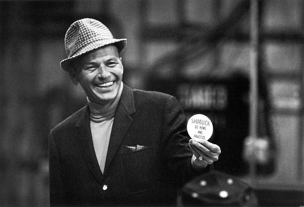 Photograph - Entertainer Frank Sinatra Smiling by John Dominis
