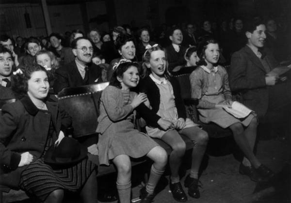 Laughing Photograph - Enthralled Audience by Kurt Hutton