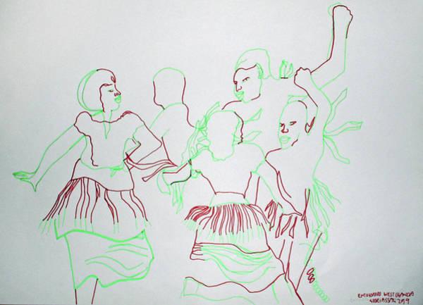 Painting - Entogororo Dance West Uganda by Gloria Ssali