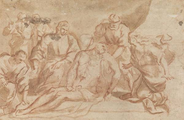 Wall Art - Painting - Entombment Of Christ  by Aniello Falcone