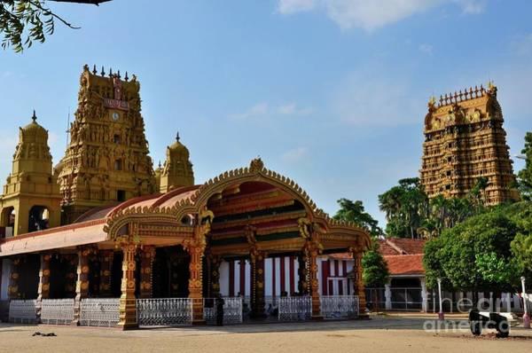 Photograph - Entrance And Gopuram Towers Of Nallur Kandaswamy Hindu Temple To Lord Murugan Jaffna Sri Lanka by Imran Ahmed