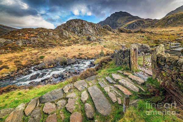 Wall Art - Photograph - Entrance Gate Cwm Idwal Snowdonia by Adrian Evans