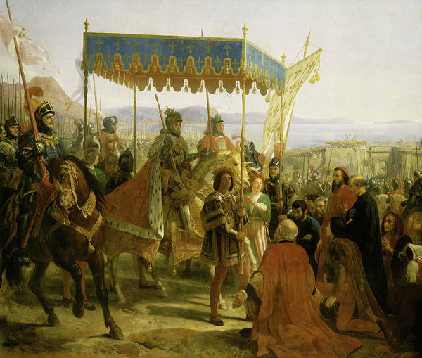 Wall Art - Painting - Entrance Of Charles Viii To Naples, 1495 by Eloi Firmin Feron