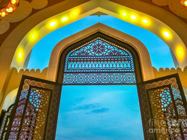Photograph - Entrance Of Doha Mosque by Benny Marty