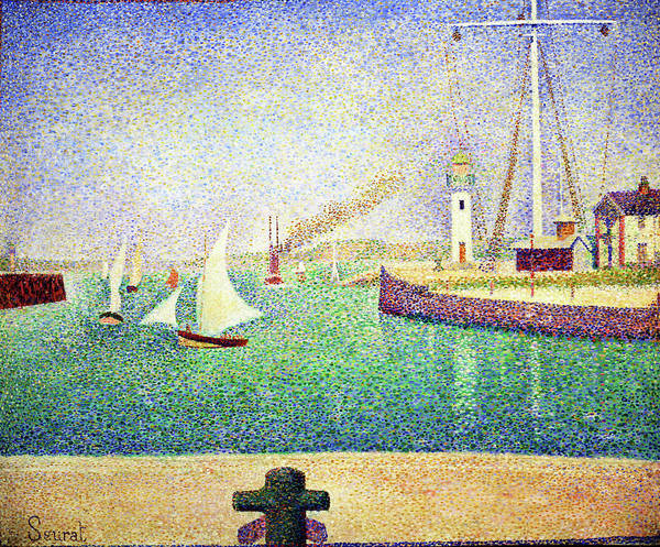Wall Art - Painting - Entrance Of The Port Of Honfleur - Digital Remastered Edition by Georges Seurat