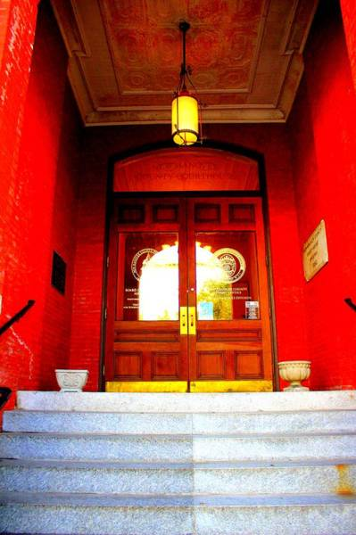 Photograph - Entrance To Courthouse by Cynthia Guinn