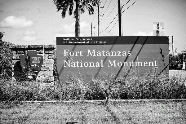 Wall Art - Photograph - entrance to national park service Fort Matanzas national monument St Augustine Florida US USA by Joe Fox