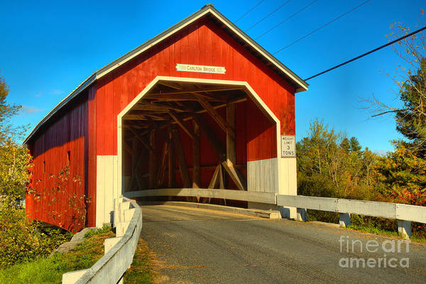 Photograph - Entrance To The Carleton Covered Bridge by Adam Jewell