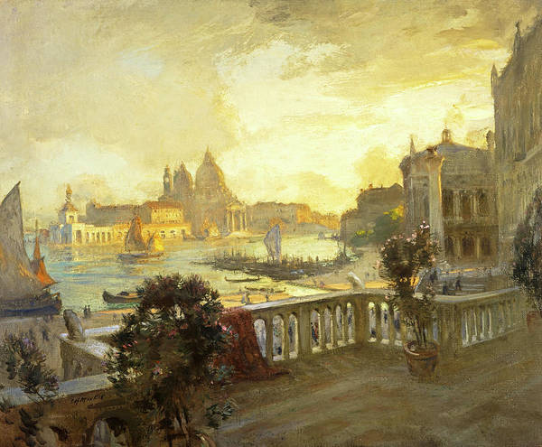 Wall Art - Painting - Entrance To The Grand Canal, Venice, 1912 by Charles Hodge Mackie