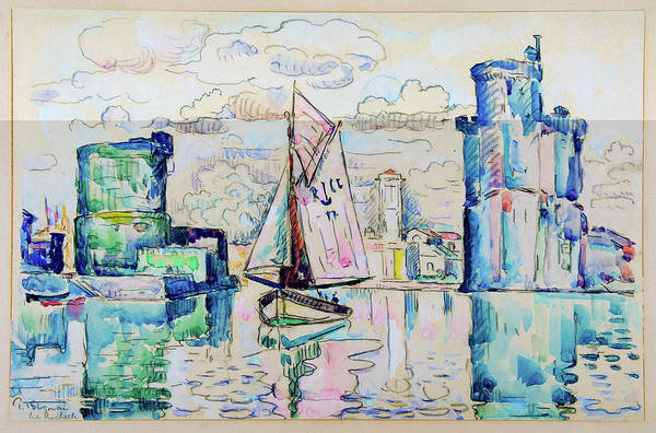Wall Art - Painting - Entrance To The Harbor Of La Rochelle - Digital Remastered Edition by Paul Signac
