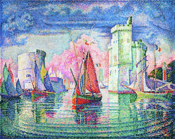 Wall Art - Painting - Entrance To The Port Of La Rochelle - Digital Remastered Edition by Paul Signac
