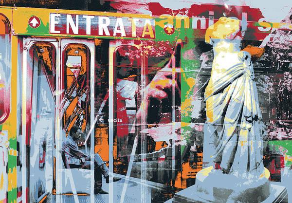 Alitalia Wall Art - Mixed Media - Entrata by Shay Culligan