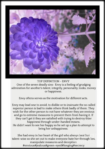 Admiration Mixed Media - Envy by Shaino Gunesh