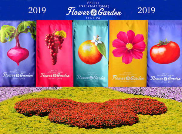 Wall Art - Photograph - Epcot 2019 Ifgf Banners And Flowers by David Lee Thompson