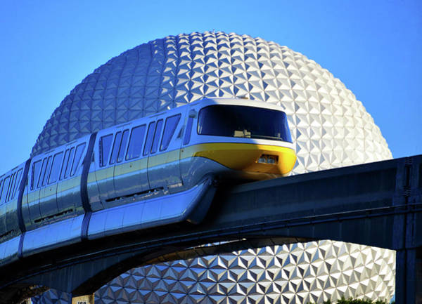 Wall Art - Photograph - Epcot And Monorail by David Lee Thompson