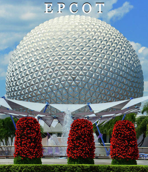 Epcot Center Wall Art - Photograph - Epcot And Spaceship Earth by David Lee Thompson